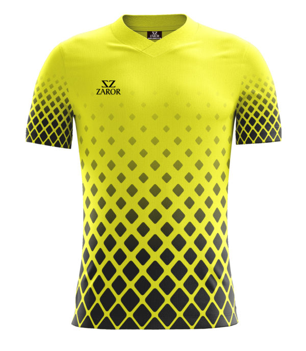 Diamond Football Shirt Half Sleeves yellow-black