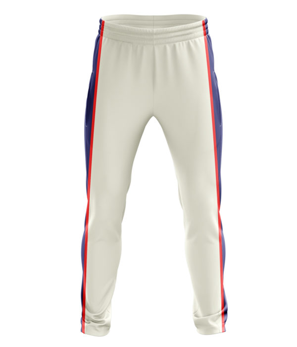 Zaror Matrix Cricket Trouser white_navy