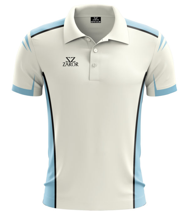 Zaror Oval Cricket Shirt white_sky