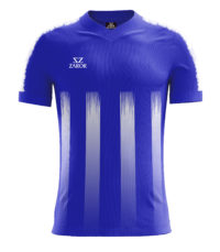 Zaror Striped Estro Football Shirt royal-white